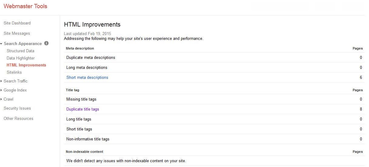 html improvement